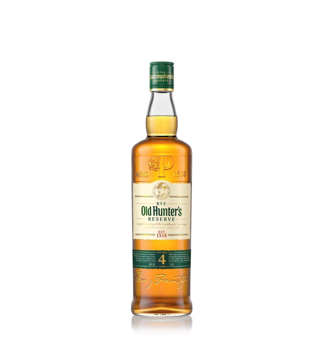 Old Hunter's Reserve Czech Rye Whisky 4 ani 0.7L