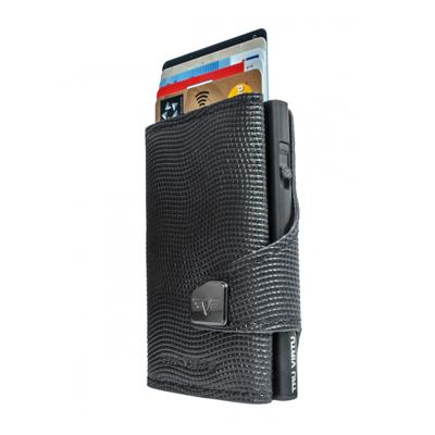 Tru Virtu Wallet Click & Slide Lizard Black/Black