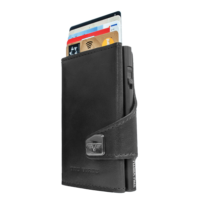 Tru Virtu Wallet Click & Slide Nappa Black/Black